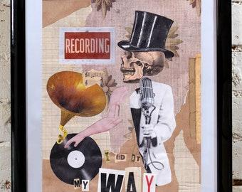 Artwork - Collage 'My Way' - Handmade - OOAK