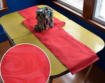 Table Runner made from a Vintage Japanese Obi Belt Bright Swirl