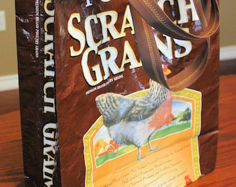 Up Cycled Feed Bag Tote - Purina Scratch Grains (Poultry)
