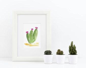 Arizona mur - Cactus Art aquarelle - succulentes aquarelle Print - impression de Cactus - Cactus aquarelle reproduction d'Art - Art de l'aquarelle Art Arizona