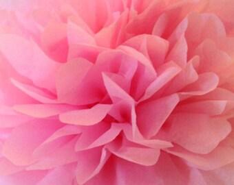 Dark Pink pom pom / Party Poms / Birthday / Firstbirthday / Baby shower / Hanging poms / Nursery pompoms / Party decorations