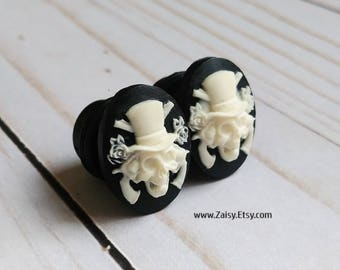 Gentleman Plugs for Gauged Ears Sizes 6G, 4G, 2G, 0G, 00G, 1/2, 9/16, 5/8 Inch, 15mm, 14mm, 12mm, 10mm, 8mm, 6mm, 5mm,4mm, One Pair(1)