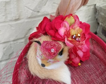 Sleeping Fox Custom Ladies Fashion Hat