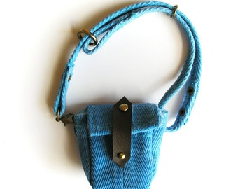 Cyan Satchel Bag for Timmie Tadpole or other small toys