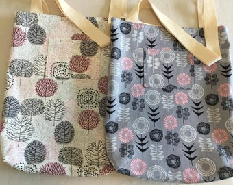 Reversible Tote Bag, Bespoke bag, Canvas Tote Bag, Shoulder bag, Reusable shopping bag, student bag, Nurse bag, Lunch bag, Market bag