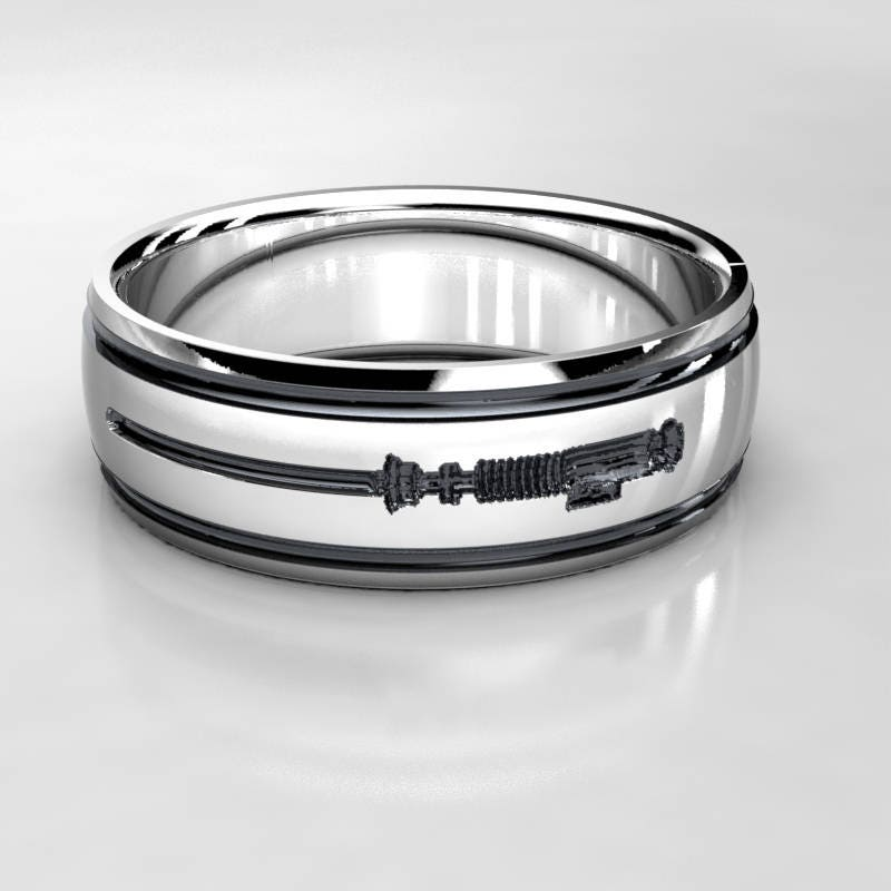 groom rings on pinterest inner best heartbeat from wedding uniquely ring diamonds engraved create unique geek with for serendipity bands images lightsaber serendipityd a your