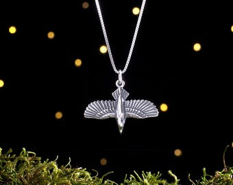Sterling Silver 3D Raven - (Pendant Only, No Chain) [CLEARANCE]