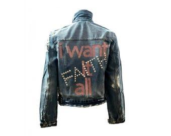 I Want It All-Faith  Jean Denim Jacket - Hipchik