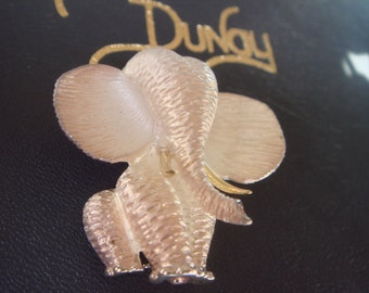 Henry Dunay silver and 18k gold elephant brooch pin