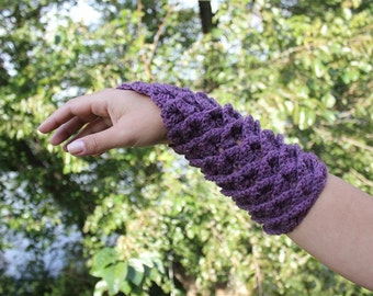 CROCHET PATTERN: Crocodile Stitch Gauntlets - Permission to Sell Finished Product