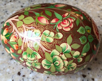 Paper mache egg made in India