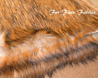 """8"""" x 20"""" 8"""" x 16"""" 8"""" x 10"""" Red Grizzly Bearskin Fur Faux Fabric By The Yard Shag Furs Animal Upholstery Supply Crafts Sheepskins Fabrics"""