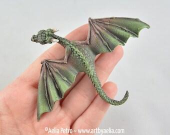 Custom Made Realistic Baby Earth Dragon Hair Clip PRE-ORDER