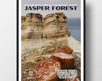 Petrified Forest Poster, Petrified Forest print, national park print, national park poster, petrified forest national park, jasper forest