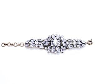 Crystal Bracelet Rhinestone Bracelet Bridal Bracelet Statement Bangle