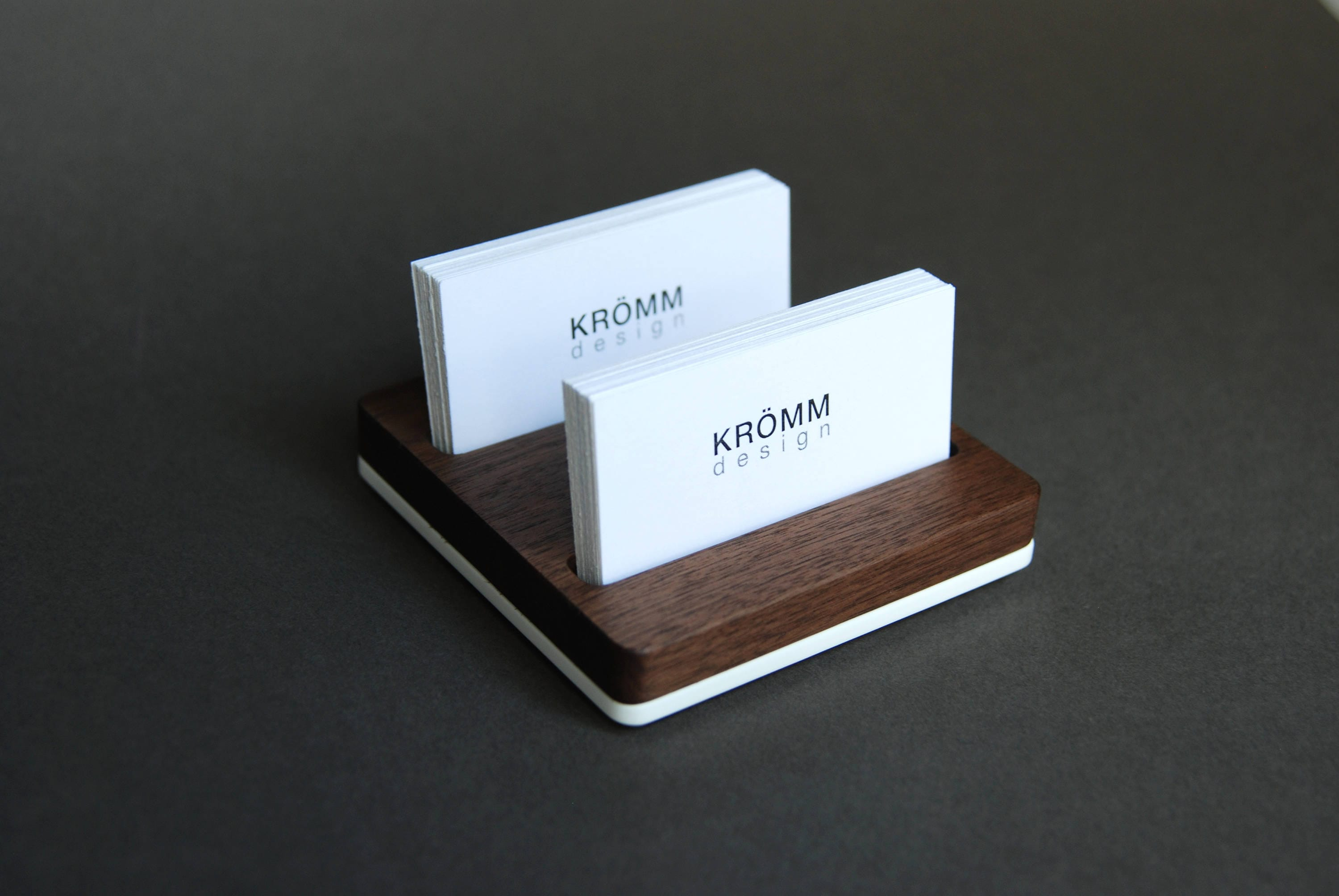 Business card holder for desk wood business card stand business business card holder for desk wood business card stand business card display walnut and acrylic card holder colourmoves