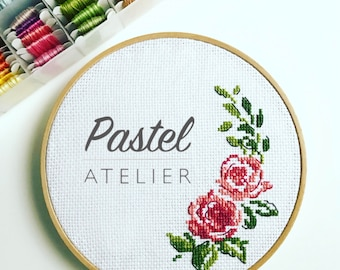 Personalized Embroidery frame with roses