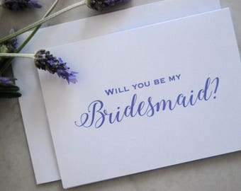 Will you be my Bridesmaid | Will you be my maid of honour | Bridesmaid card | Be my bridesmaid greeting card | Personalized Wedding Card