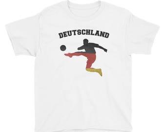 Deutschland German Soccer Kids Shirt - Germany Soccer Tee - German Soccer Team World Soccer Championship Russia 2018 German Fan T Shirt - Ge