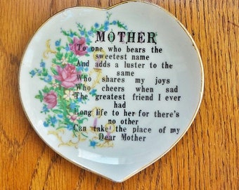 MOTHER Vintage Small Heart Shaped Plate