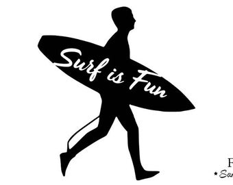 surfing is fun surfer 1 flex fusible