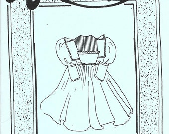 Doll Clothes Patterns LTD - Vintage 1994 -  Personal Touch 115 - 18 - 19 inch doll - Old Fashioned Dress - pattern has been cut