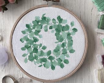Cross stitch pattern modern Cross stitch pattern Wreath cross stitch pattern Modern cross stitch pattern Cross stitch Modern embroidery