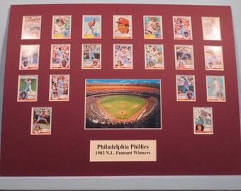Philadelphia Phillies led by Mike Schmidt and Steve Carlton are the 1983 National league Pennant Winners