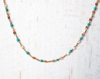 very delicate, minimalist necklace, beads, sequin enamelled, adjustable strap.  Shop : AtelierVivienne