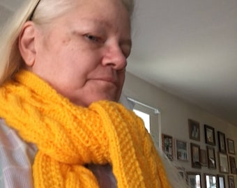 Twists and Cable Scarf