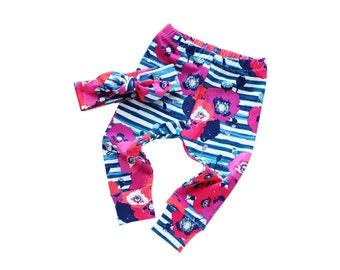 Floral Leggings for Baby Girl - Floral Leggings and Headband - Baby Leggings and Headband - Toddler Leggings Set - Baby Floral Leggings