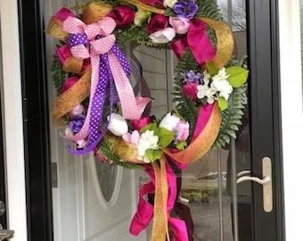 Elegant Summer Fairy Wreath
