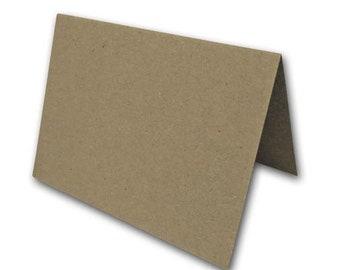 BROWN BAG KRAFT A7 folded cards 25 pk