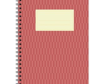 Notebook A5 - Red Pattern