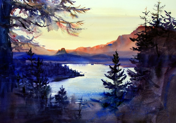 Columbia Gorge 315 original watercolor painting by Bonnie White