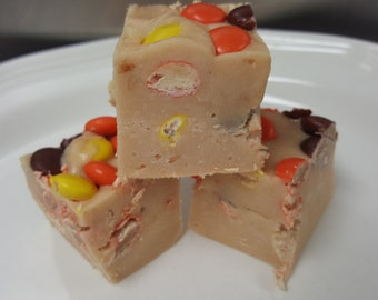 REESE'S PIECES FUDGE Gourmet Candy Fudge 1/2 pound