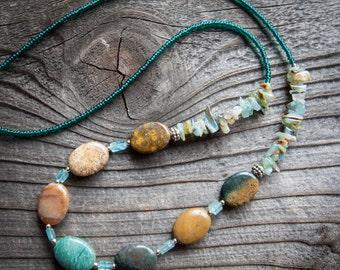 Jasper and Amazonite Necklace