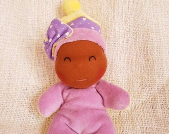 tipoupidou yellow and purple baby blanket