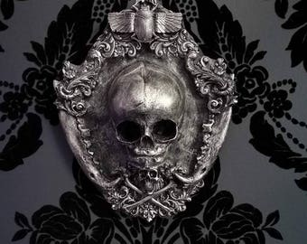 Resin Cast Fetus Skull Wall Plaque