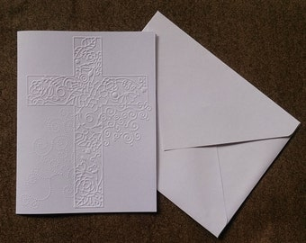 CROSS embossed cards (set of 10 cards)