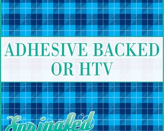 Scottish Plaid Pattern in Blue Adhesive Vinyl or HTV Heat Transfer Vinyl for Shirts Crafts and More!