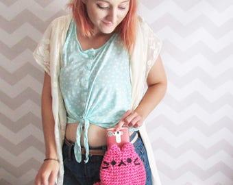 belt bag, bum bag, fanny pack, waist bag, festival bag, phone purse, cat bag, cat purse, cat ears, kawaii, cute, mini purse, anime
