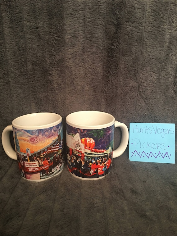 walgreens 2000th and 3000th store opening mugs