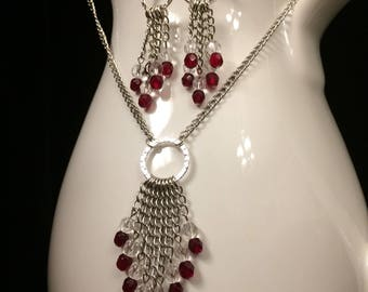 Hollywood Glamour Necklace and Earrings