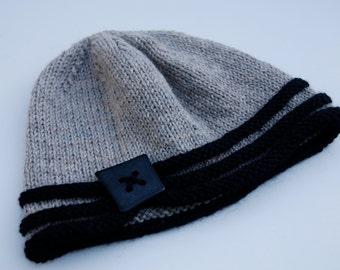 INSTANT DOWNLOAD, knit flapper hat pattern, PDF hat pattern, pdf knitting pattern, pattern for knit hat, beehive hat pattern, 20's style hat