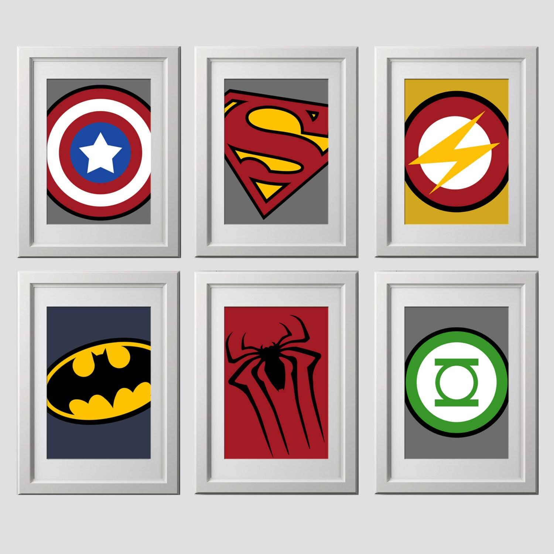 It is an image of Epic Superhero Logo Printable
