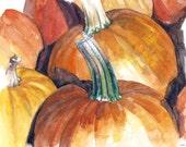 Pumpkin Painting - Print ...