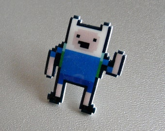 dude, what the bjork - adventure time finn the human pin