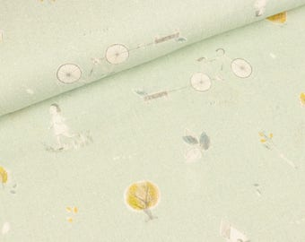 Cotton double Gauze Miriam Sommer on Hellmint (15.50 EUR/meter)