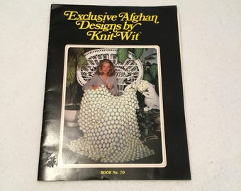 Vintage Knit Wit Exclusive Afghan Designs Booklet 1981 Book No 70